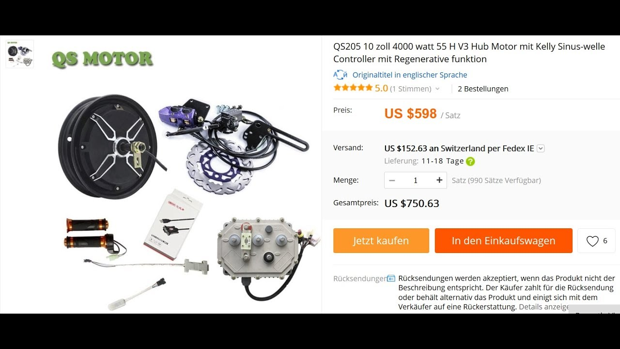 UnBox, The QS Motor Kit from AliExpress