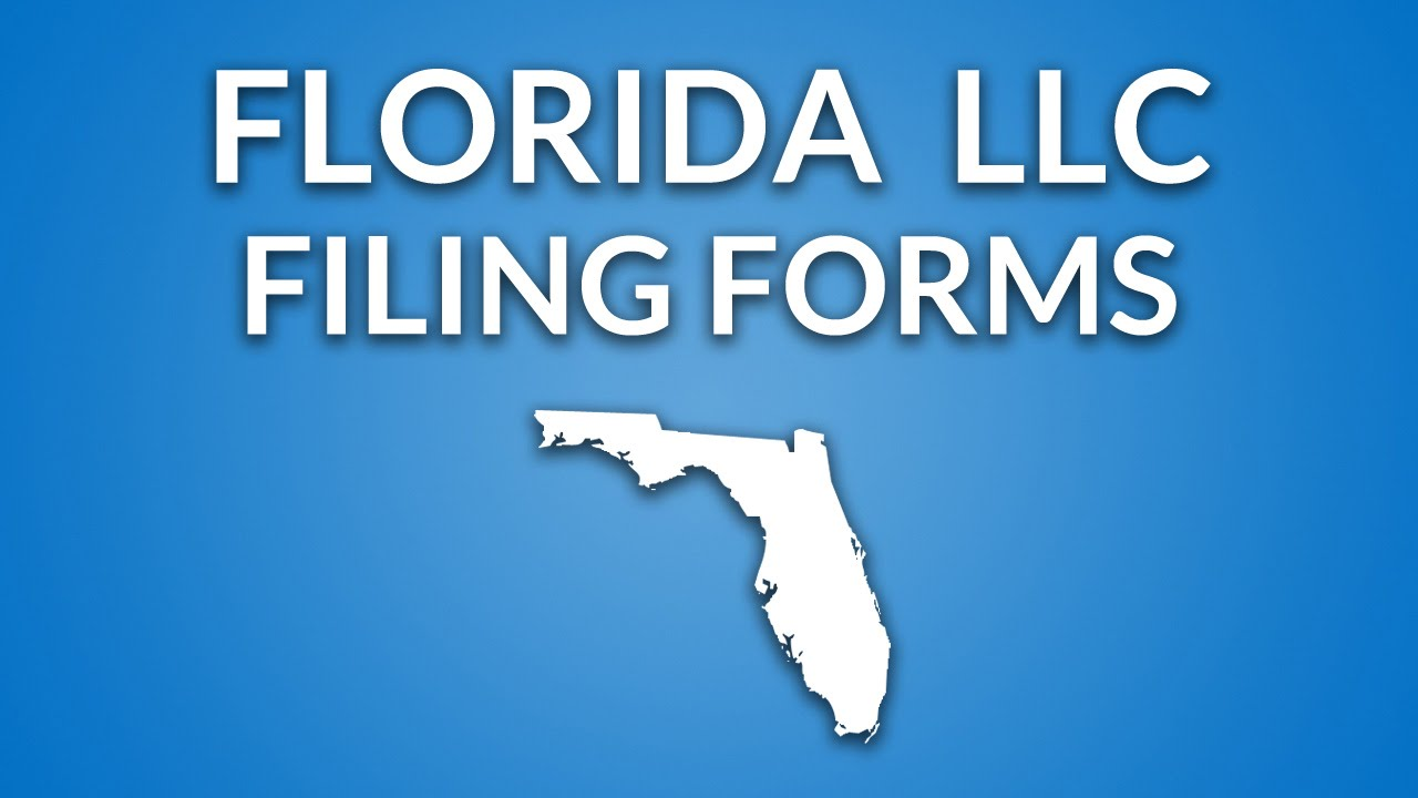Florida Llc Filing Forms Documents Youtube