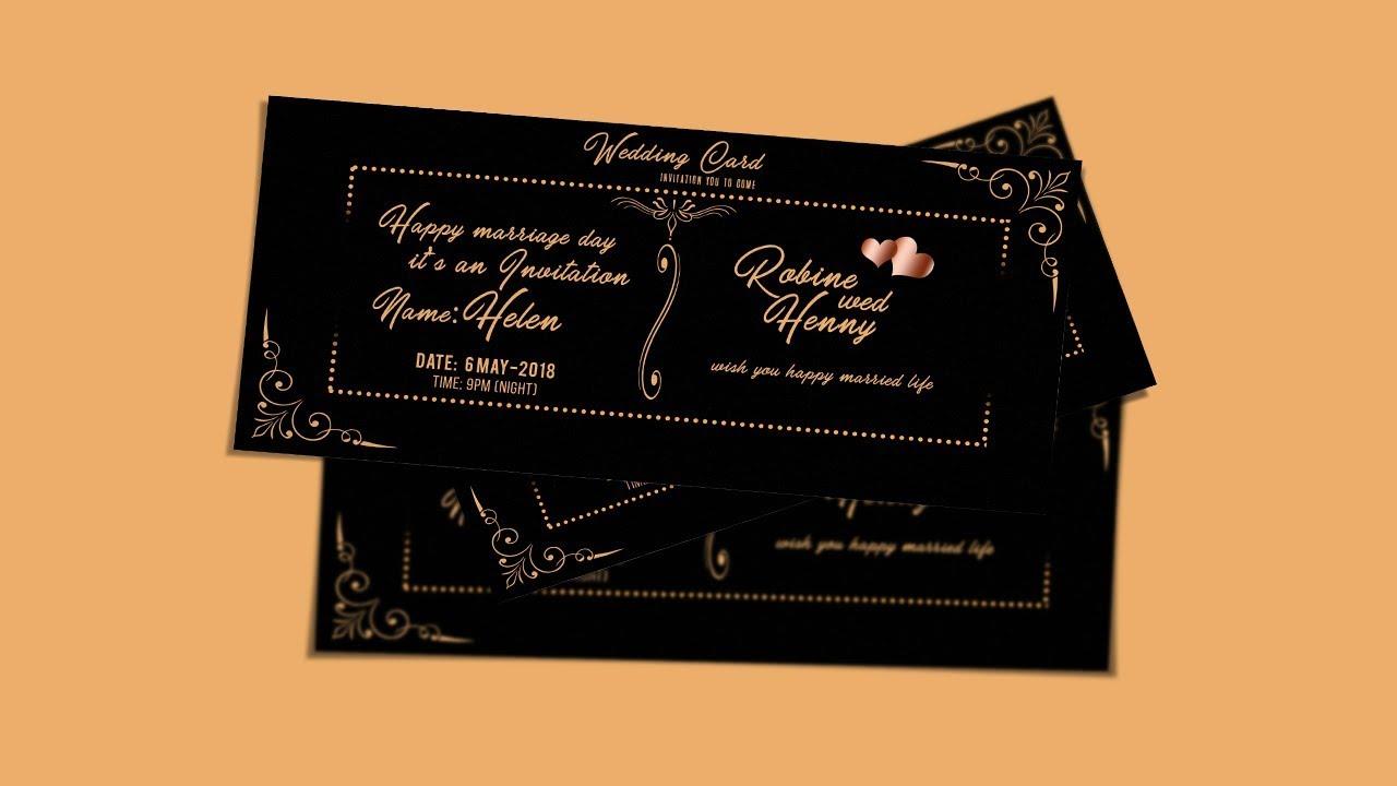 Wedding Invitations Card Design Photoshop