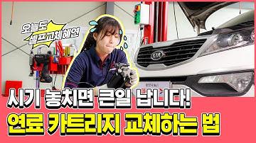 연료필터 카트리지 교체 완전정복! (feat. 스포티지R 디젤)