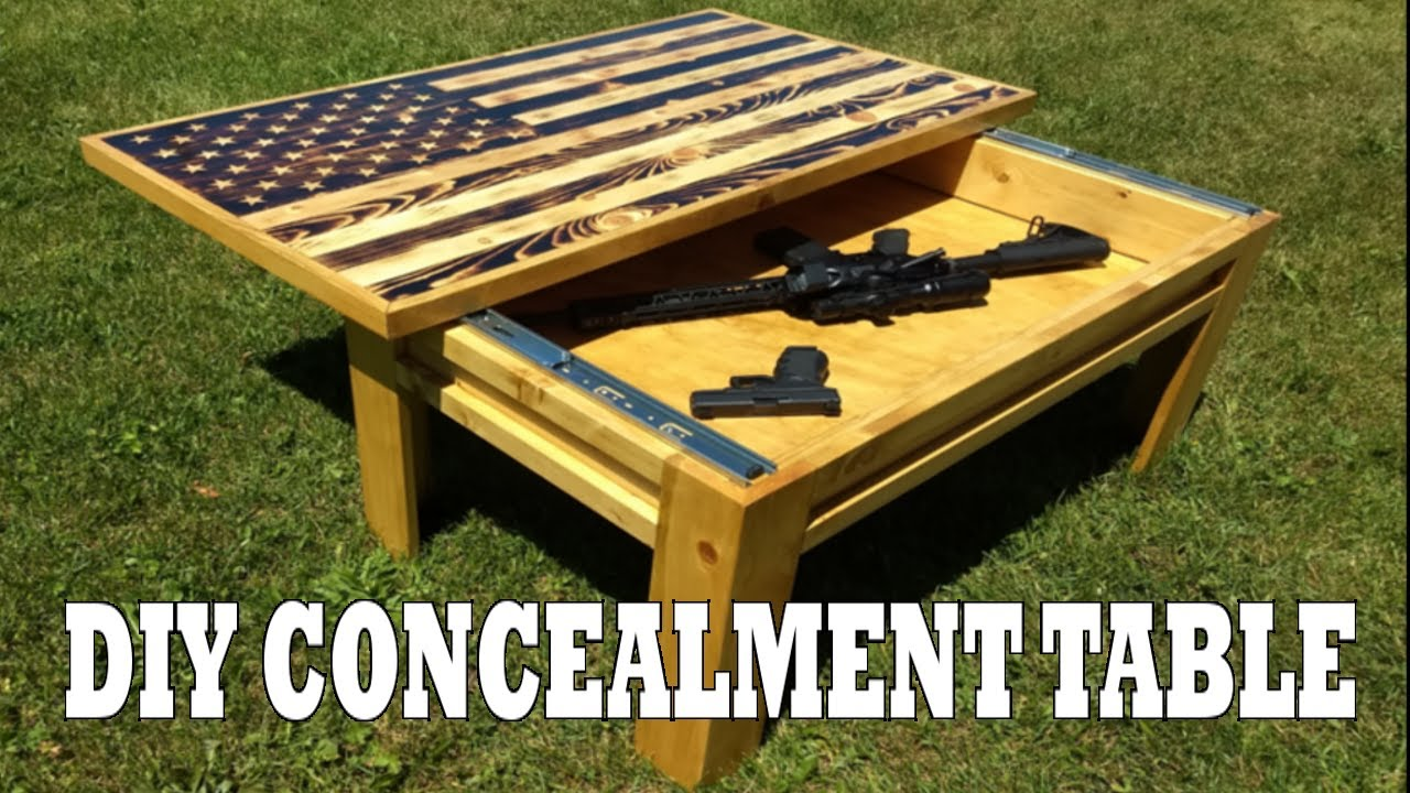 how to make a wooden american flag concealment coffee table easy diy project