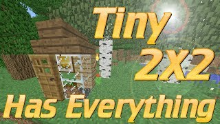 Minecraft 2x2 House | How to make a TINY House in Minecraft | Minecraft Lets Build Tutorial 2017