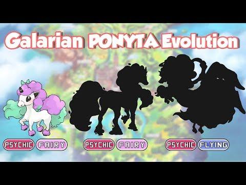 Galarian PONYTA - RAPIDASH & Mega Evolution   Galar Form Pokemon Fanart