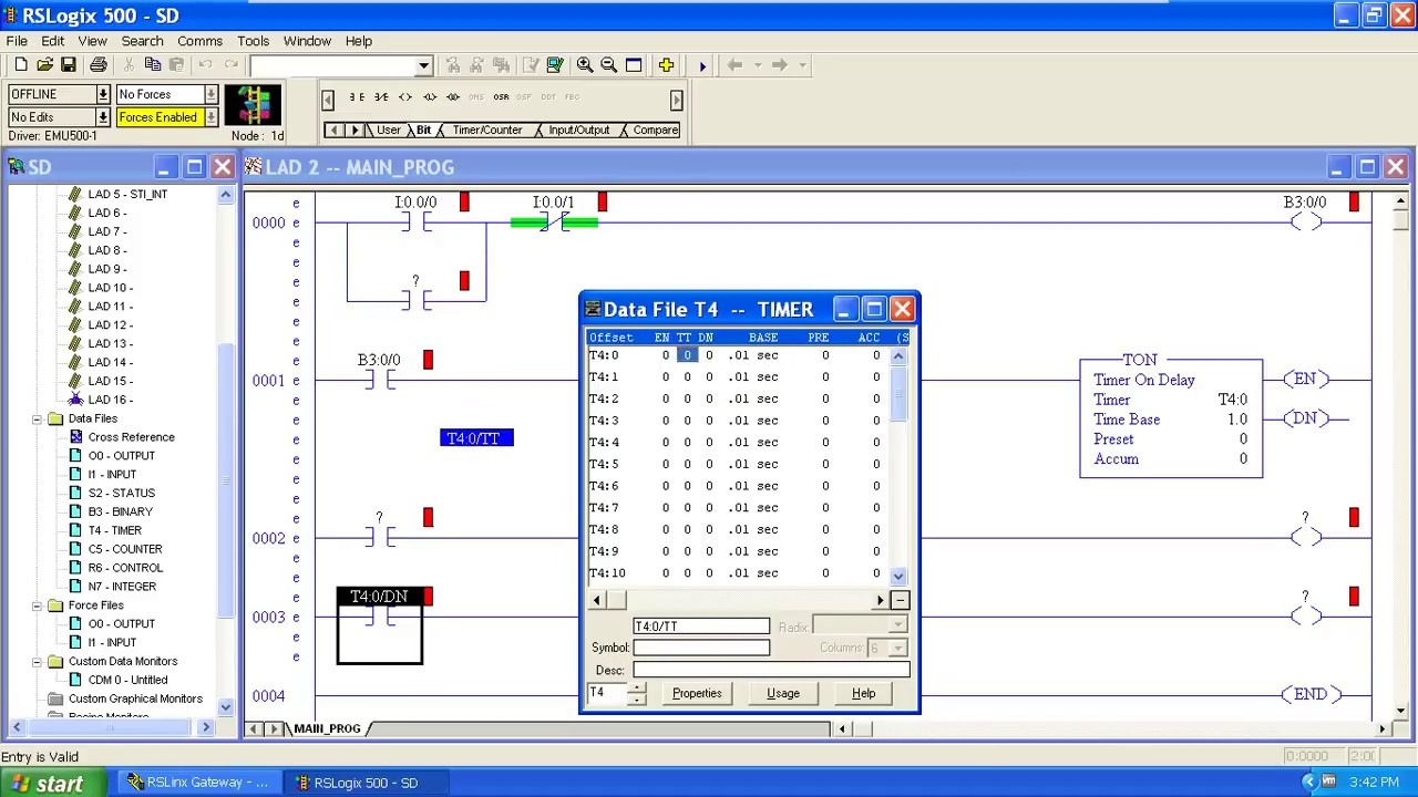 Star Delta Starter Ladder Logic Plc Rslogix 500 English Software Youtube