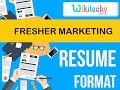 resume | fresher marketing resume | sample resume | resume templates | c v template