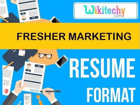 Resume Fresher Marketing Resume Sample Resume Resume Templates