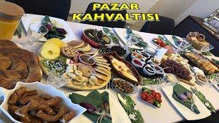Kahvaltıya Misafir/ Pazar Kahvaltısı Menüm Sofram/Vlog / Pankek Tarif, Peynir Tabağı, Güveçte Sucuk
