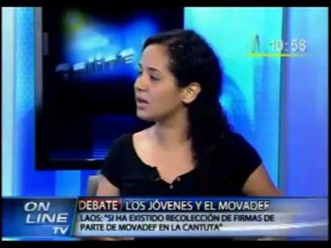 Entrevista en Canal N a Sigrid Bazán (Presidenta FEPUC) y Jaime Laos sobre el MOVADEF