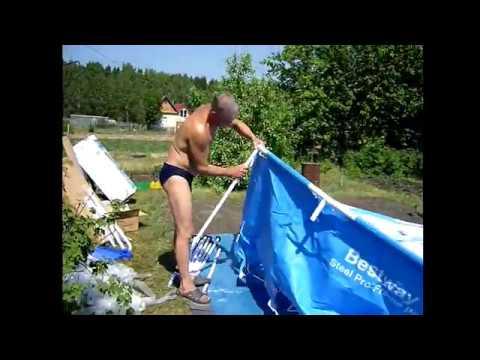 Сборка каркасного бассейна. Как установить бассейн BestWay 56088 размер 366х122