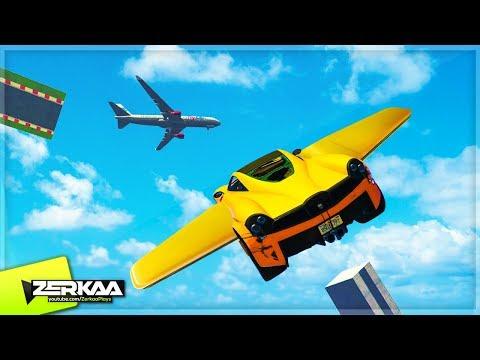 INSANE MODDED FLYING RACE! (GTA 5)