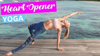 Heart Opening Yoga Flow Workout - TENSION RELIEF & FLEXIBILITY | Rebecca Louise