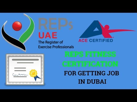 Which Reps Fitness Certification Is Valid In Dubai For Personal Trainer Jobs