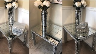 Dollar Tree DIY || 💕 Mirrored End Table || Decorating Ideas 2019💕