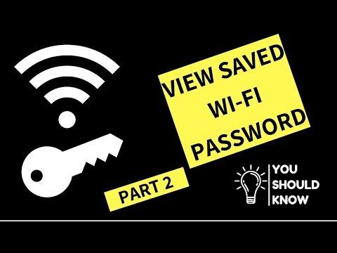 View Saved Wifi Password On Windows