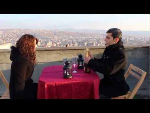 Романтическое свидание на крыше в Ереване