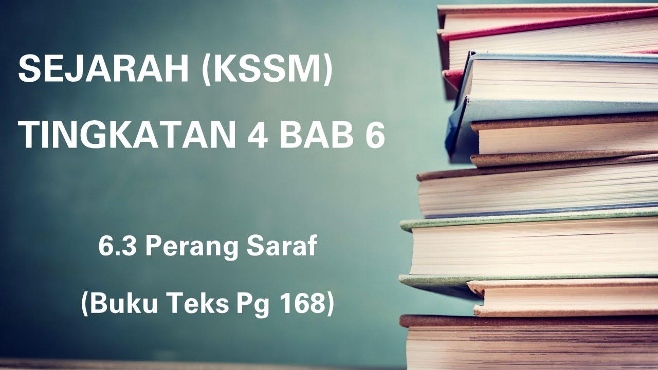 SEJARAH TINGKATAN 4 (KSSM) | BAB 6 | 复习课本练习 168 页 | Perang Saraf