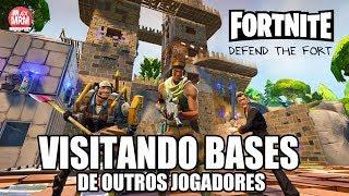 AJUDANDO OUTROS PLAYERS NA DEFESA DA BASE | Farming de XP | FORTNITE