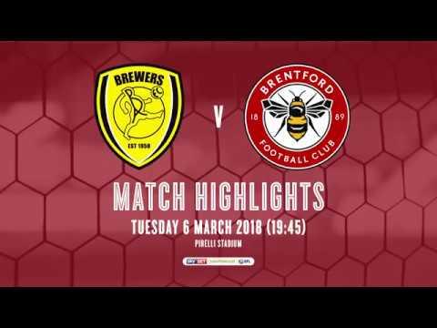 2017/18 HIGHLIGHTS: Burton Albion 0-2 Brentford