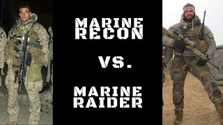 DIFFERENCE BETWEEN MARINE RECON & MARINE RAIDERS