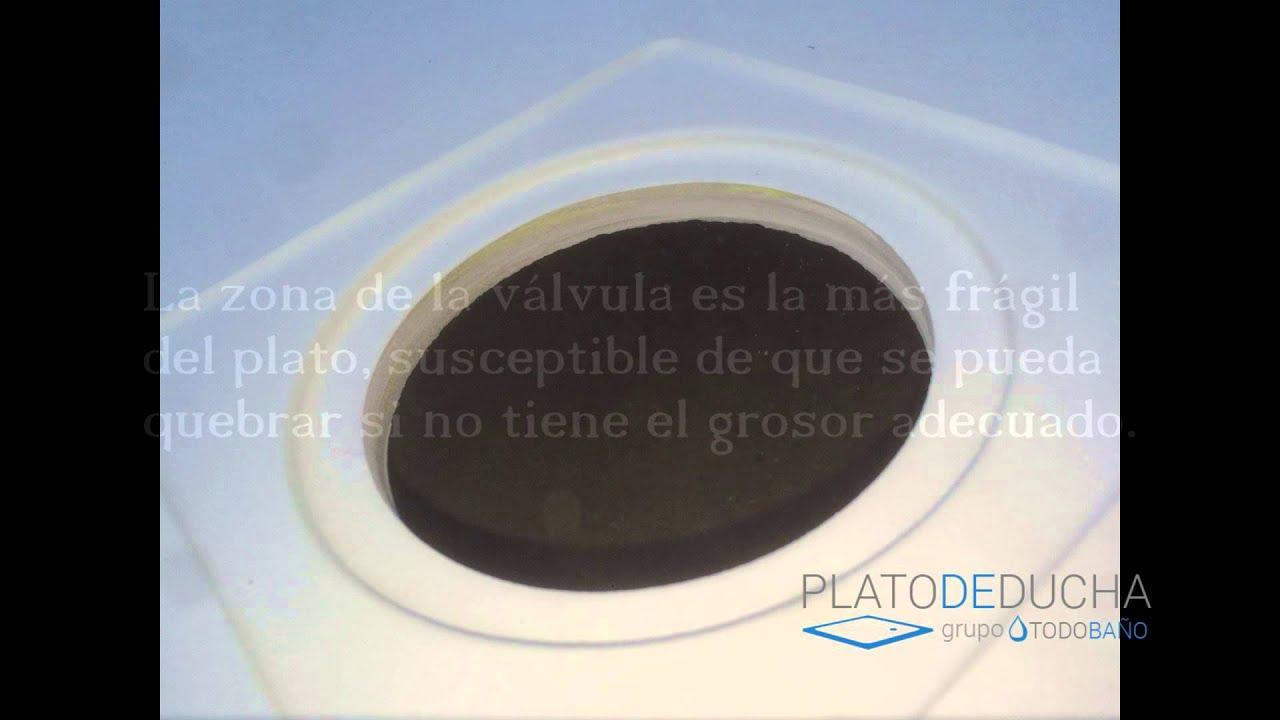Plato De Ducha De Resina Y Carga Mineral Youtube