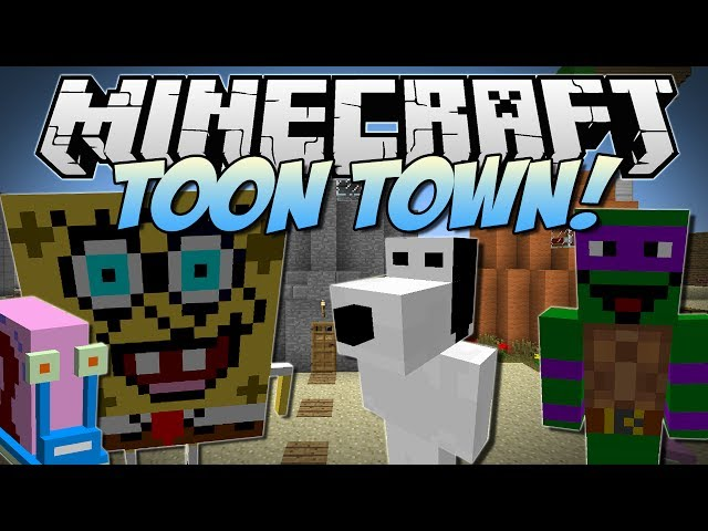 Minecraft | TOON TOWN! (Spongebob, Gary, Ninja Turtles & More!) | Mod Showcase [1.6.4] Travel Video
