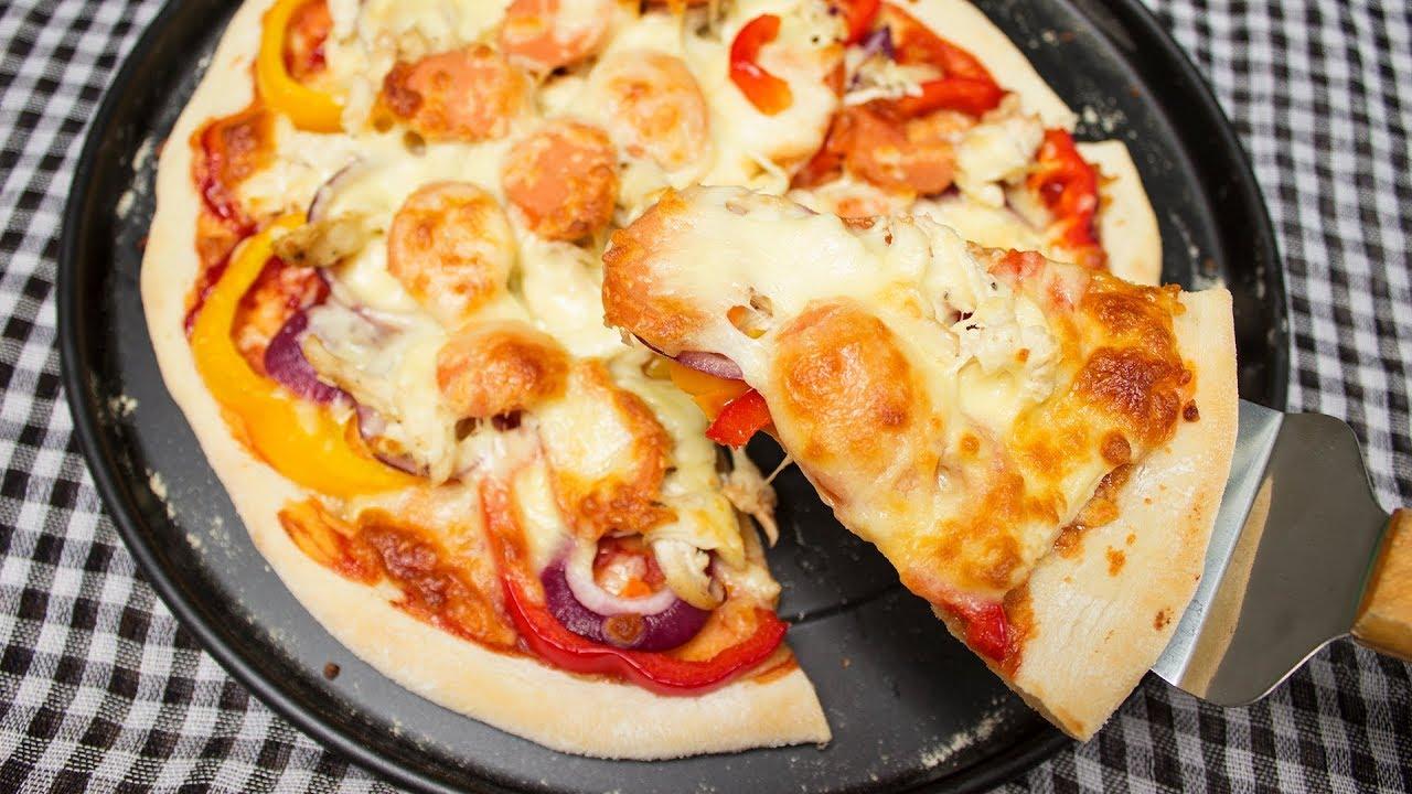 LÀM PIZZA GÀ ĐẾ GIÒN TẠI NHÀ CHƯA BAO GIỜ DỄ ĐẾN THẾ | CRISPY CHICKEN PIZZA – CKK