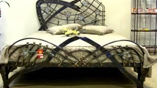видео Купить кованую кровать. Кровати с коваными спинками