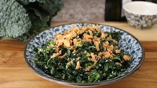 How To Make A Kale Salad - Sesame And Ginger Raw Kale Salad