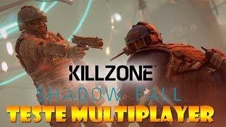 KILLZONE SHADOW FALL PS4: MULTIPLAYER DE TESTE DO JOGO, CONSOLE, CONTROLE, ETC.