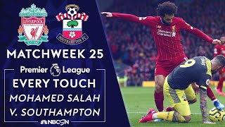 Every Mohamed Salah touch for Liverpool v Southampton  Premier League  NBC Sports