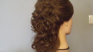 Ślubna fryzura z długich włosów. Hairstyle Tutorial.