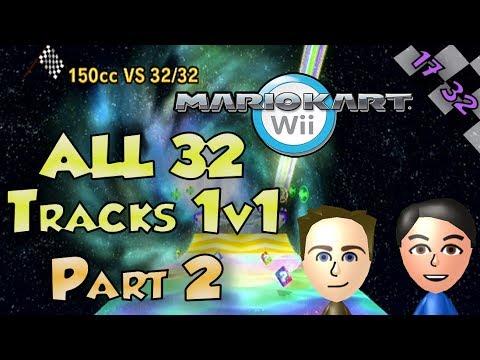 Mario Kart Wii - Colton vs Matt ALL 32 Tracks Part 2/2