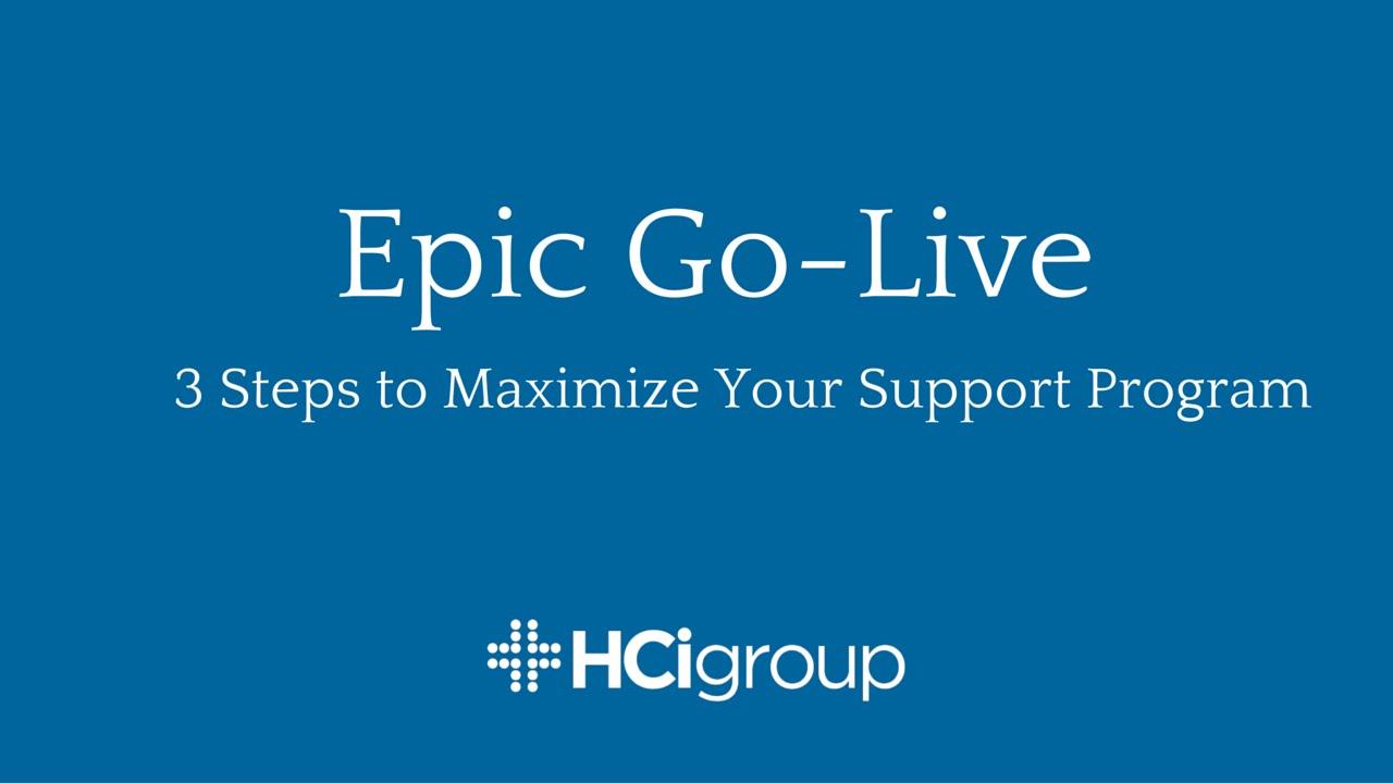 Epic go live maximizing your support program youtube epic go live maximizing your support program 1betcityfo Choice Image
