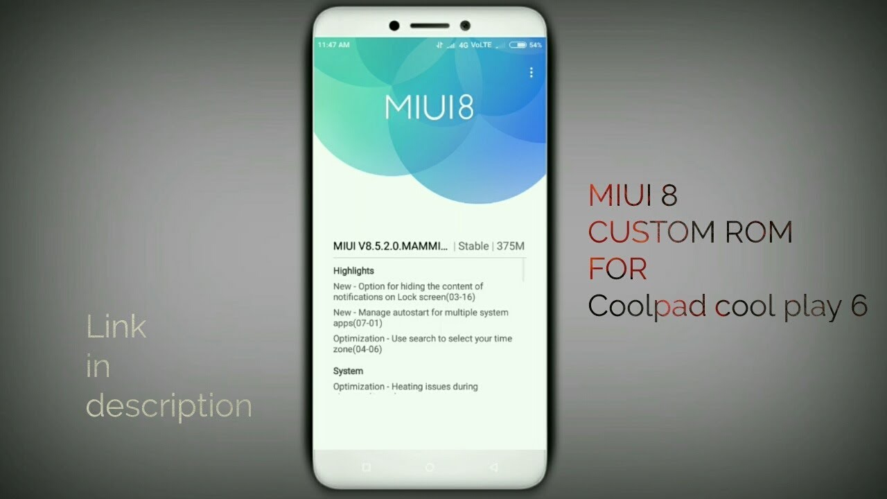 MIUI 8 Custom Rom For Coolpad Cool Play 6 Stable rom [4k]