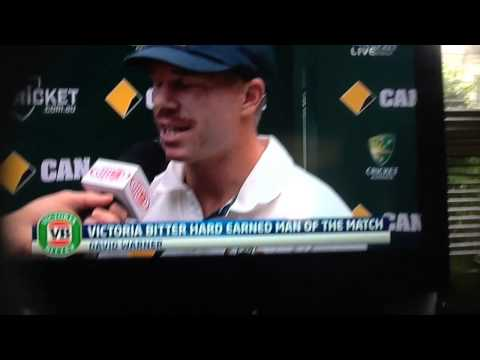 Awesome David Warner interview