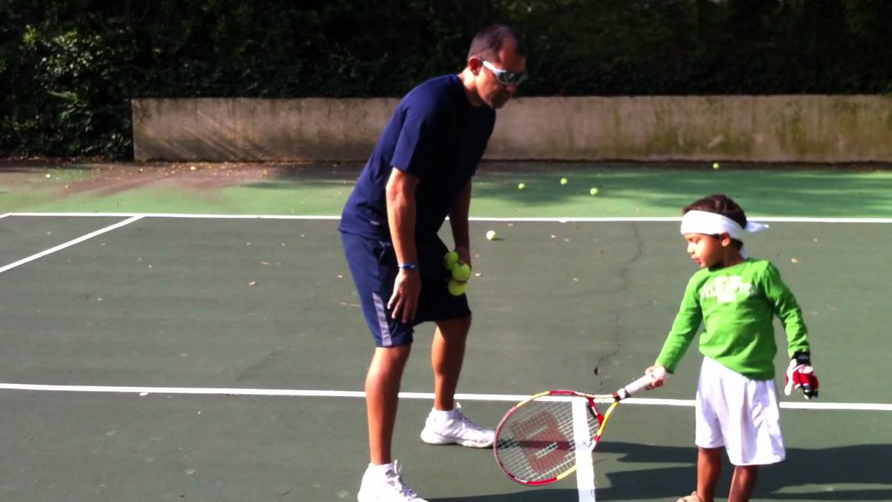 Tennis For Toddlers Teach Your Kids Tennis Video Tennis Tip The Forehand