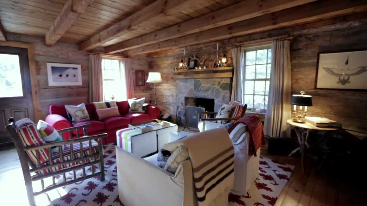 Interior design cosy rustic wood ski cabin in for Ski cottage