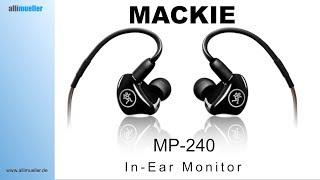 Ich hör´mich nicht !!! In-Ear Monitor MP-240