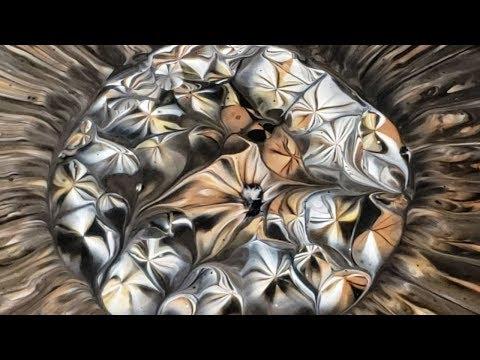 Acrylic Pouring / Kaleidoscope Colander Pour / Metallic / Flow Art / Acrylic Painting / Abstract Art
