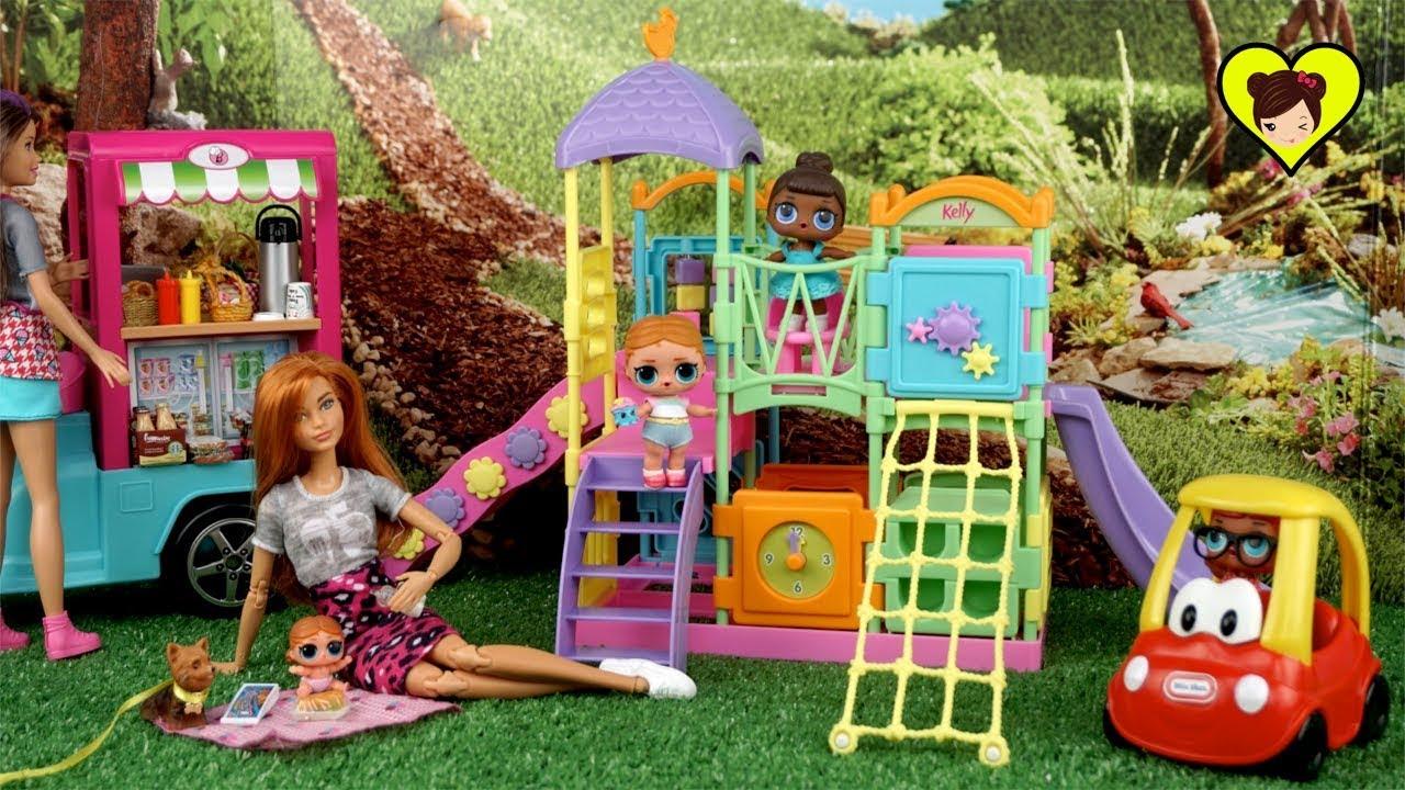 Bebes Lol Surprise Y Mama Barbie Se Van Al Parque A Jugar Youtube