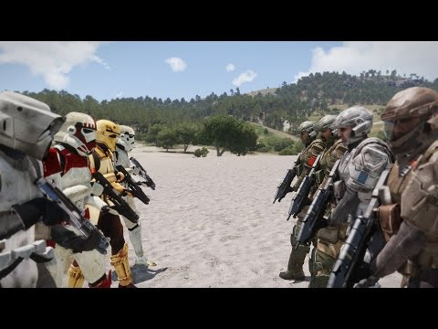 EPIC ARMA - STAR WARS VS HALO
