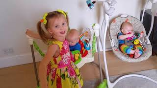 КУКЛЫ ПРЕВРАТИЛИСЬ В МАЛЫШЕЙ. Эльвира ухаживает за братиками малышами