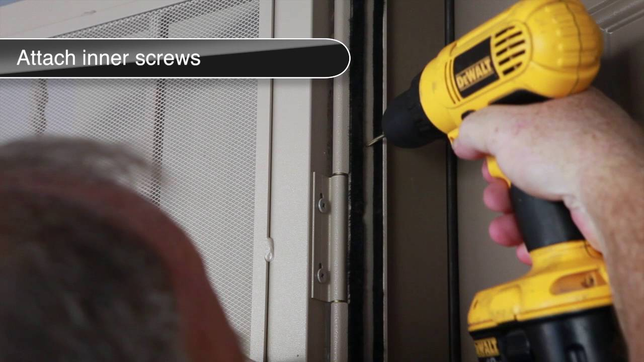 How to install a recessed mount security screen door - YouTube