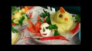 Yellow Rice, Veggies And Fruits : Carving Decorative Arts