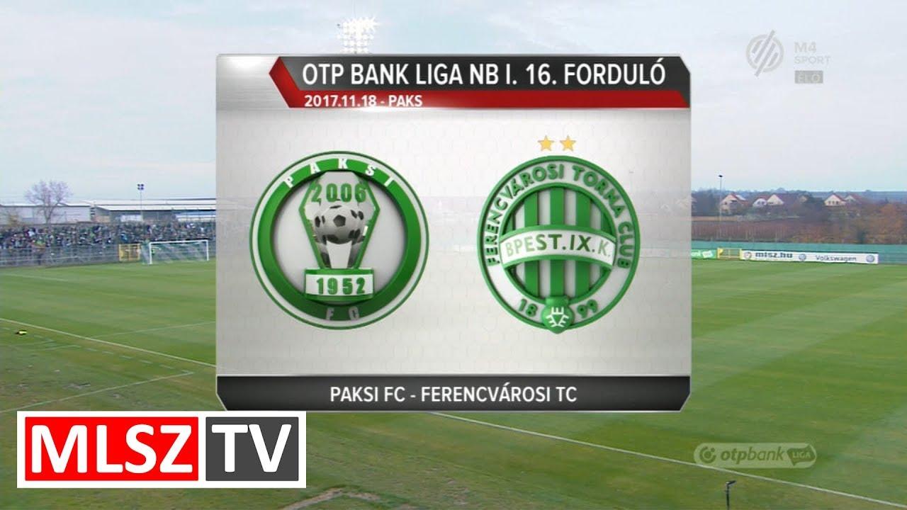 Paksi FC - Ferencvárosi TC  | 0-2 | OTP Bank Liga | 16. forduló | MLSZTV