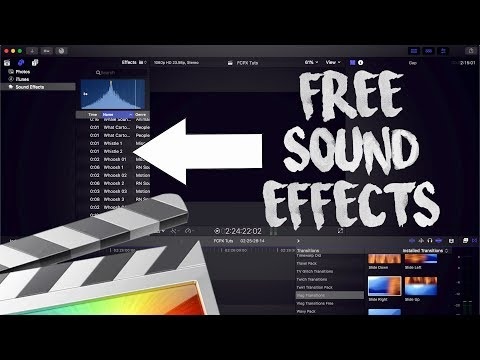 HOW TO INSTALL SOUND EFFECTS - FINAL CUT PRO X 10.4