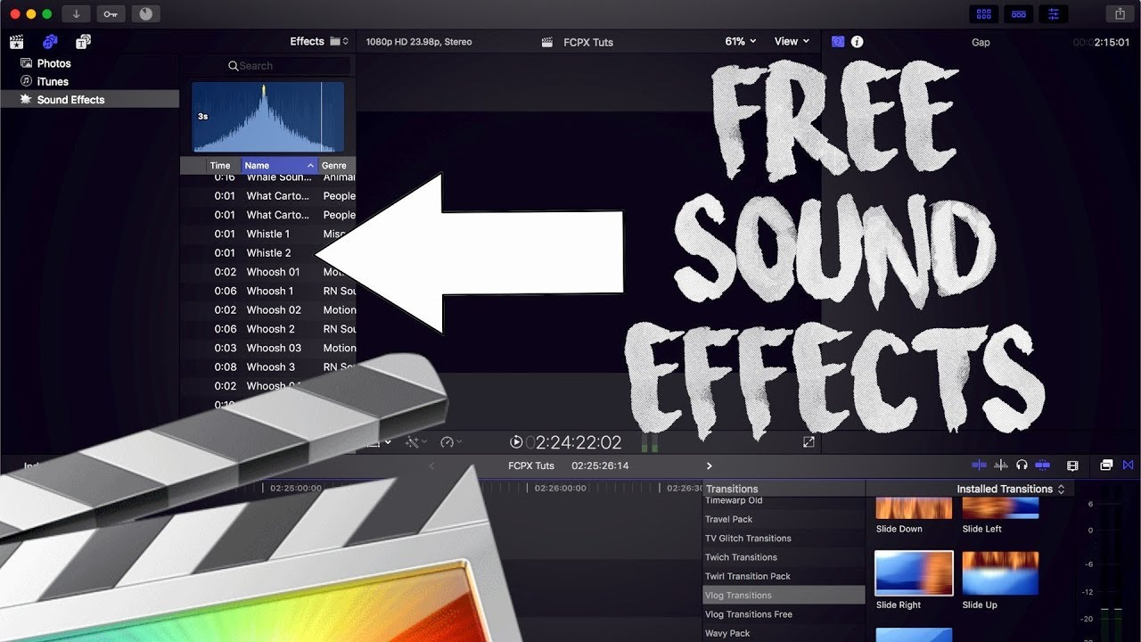 HOW TO INSTALL SOUND EFFECTS - FINAL CUT PRO X 10 4