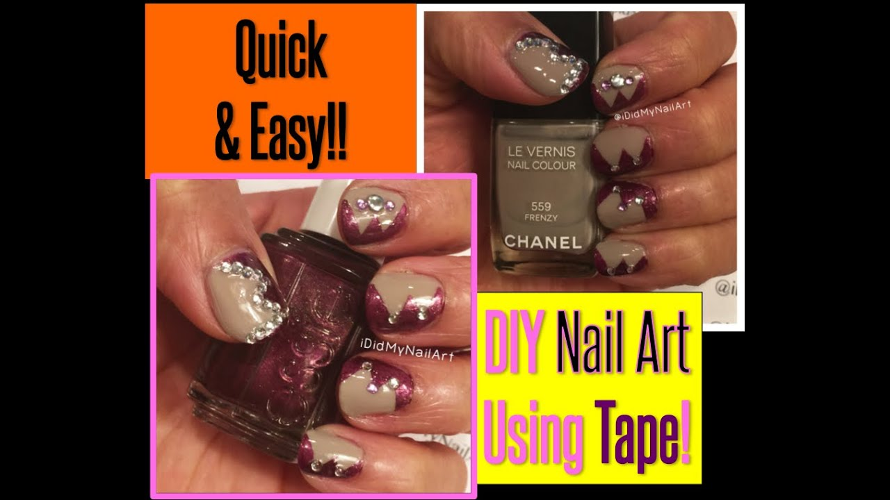 Easy Nail Art Using Tape: Easy Nail Art Using Tape!