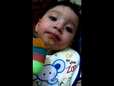 XARELO ELIXIO with his ice cream