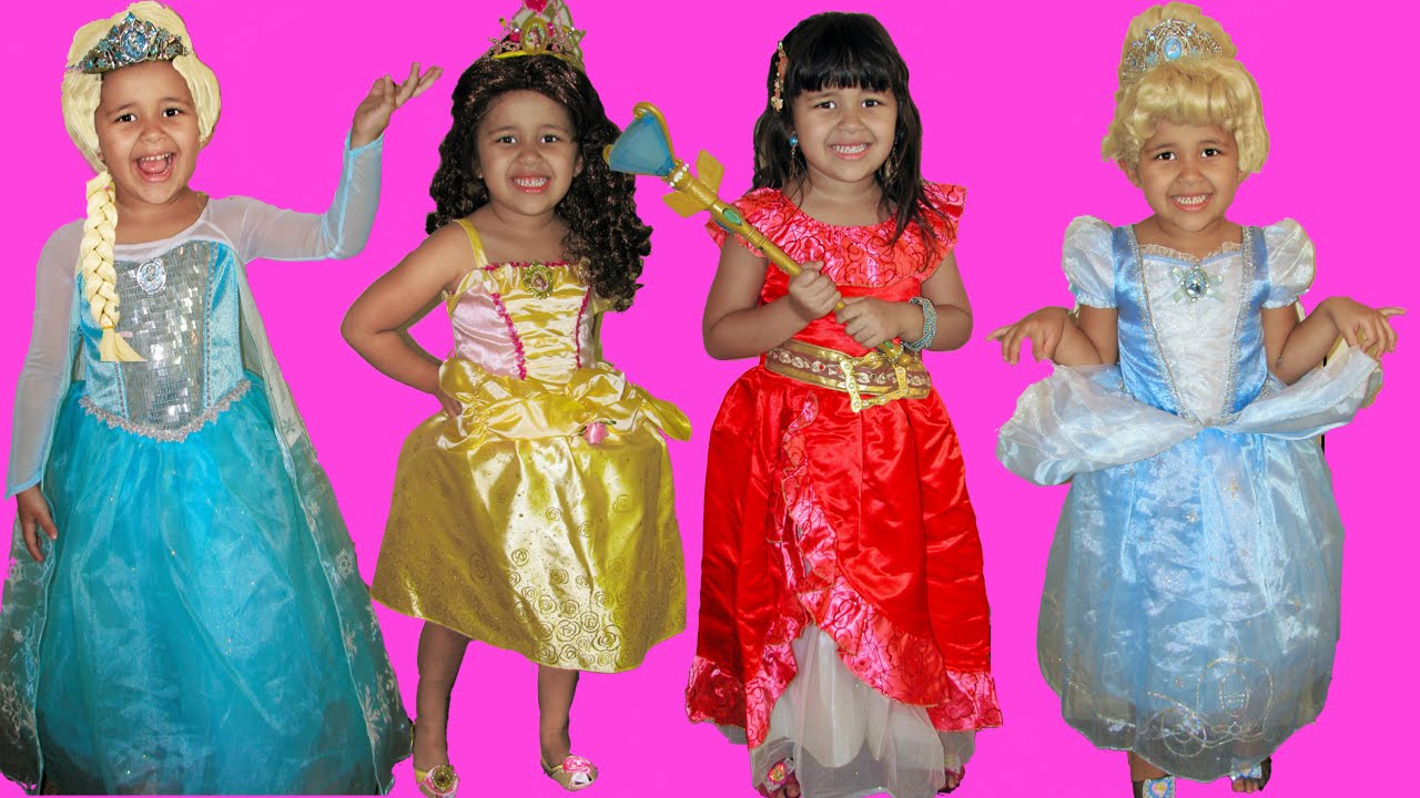 b5a88ab6a Halloween Costume Shopping Disney Princess Elena of Avalor Queen Elsa Belle  and Cinderella